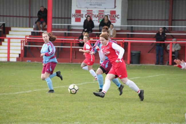 Lois Cooper's brilliant first half treble saw Thackley to an easy win over Ossett United Reserves Picture: Megan Woollias