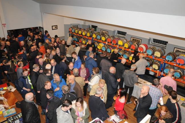Crowds enjoying the 2018 Otley Beer Festival