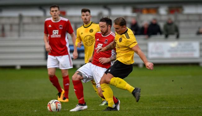 Pat McGuire in action for Thackley last season. He is hoping to cut back on his playing role as this year wears on Picture: Andy Garbutt