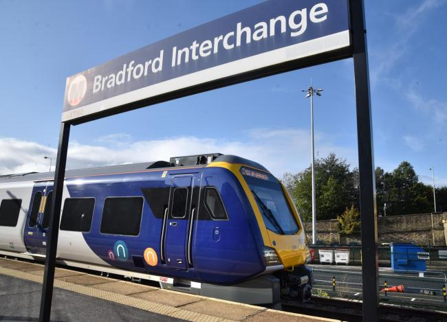 One of the new Northern Rail trains at Bradford Interchange