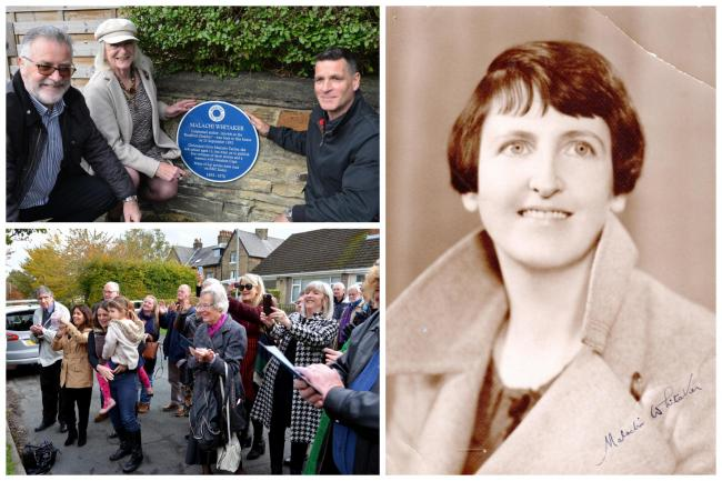 The blue plaque unveiling and Malachi Whitaker