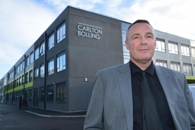 Adrian Kneeshaw, CEO of Carlton Bolling, which has been named Secondary School of the Year
