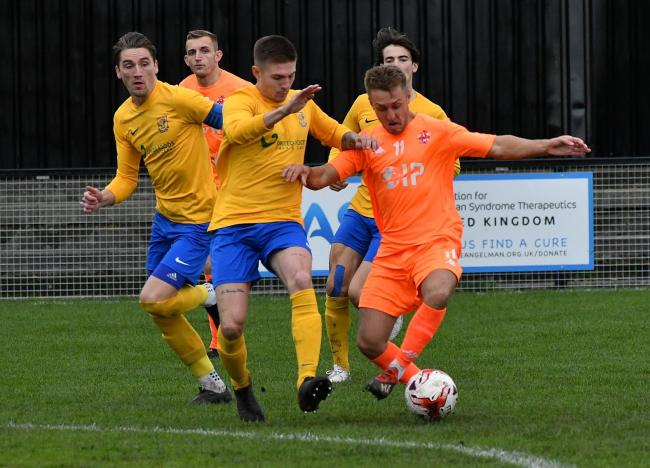 Albion Sports (yellow) taking on Liversedge back in October Picture: Richard Leach