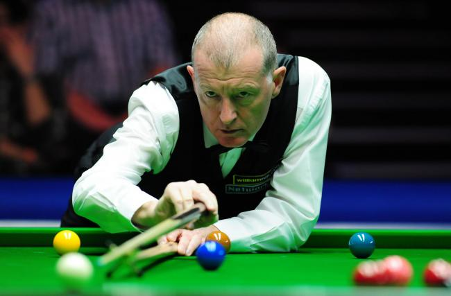 Steve Davis was in action at the Saltaire Club in Shipley yesterday    Picture: Anna Gowthorpe/PA Wire
