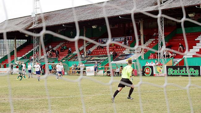Steeton beat Leeds City 4-0 in a friendly last year in their first-ever match at Cougar Park. Picture: Gary Chadwick