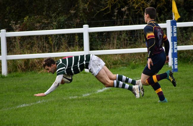 Max Kennedy shone in Old Grovians' win over North Ribblesdale, scoring one try and setting up another Picture: Richard Leach