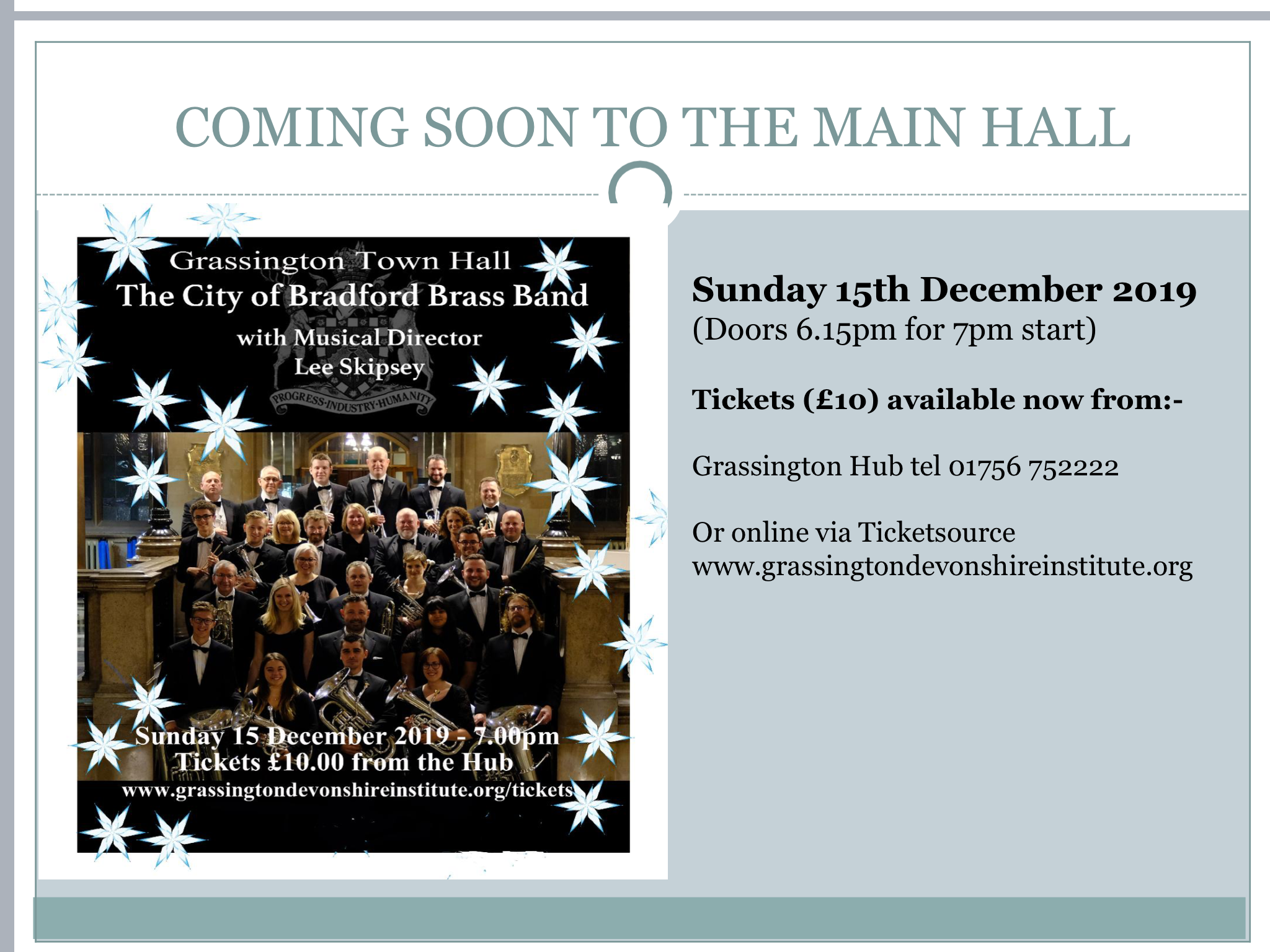 City of Bradford Brass Band Christmas Concert