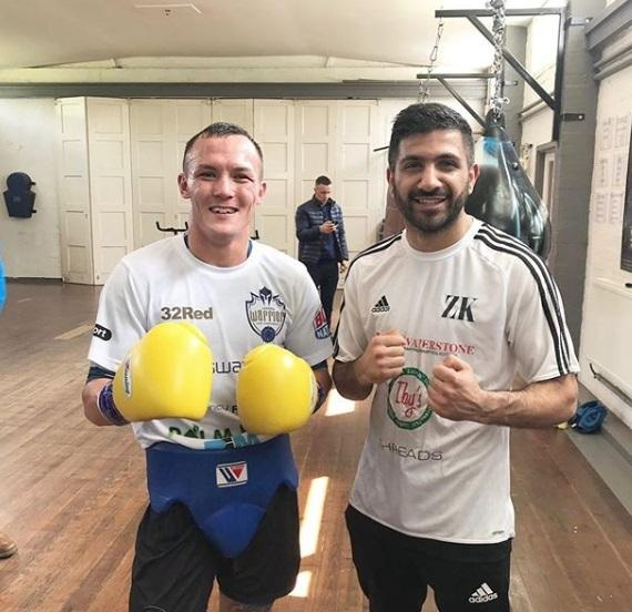 Zeeshan Khan in training with Josh Warrington earlier this year Picture: zee.khan17 (Instagram)