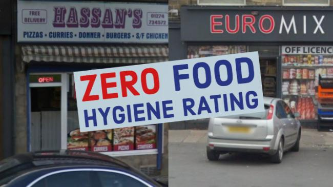 These are the only two food shops in Bradford that currently have a zero rating for hygiene