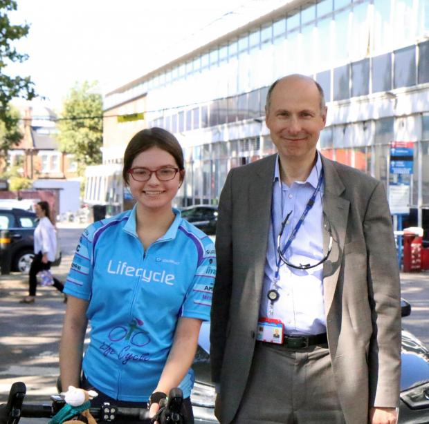 Bradford Telegraph and Argus: Tabitha Wood with her London oncologist Professor Seckl