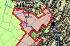 The location of the planned homes in Brighouse