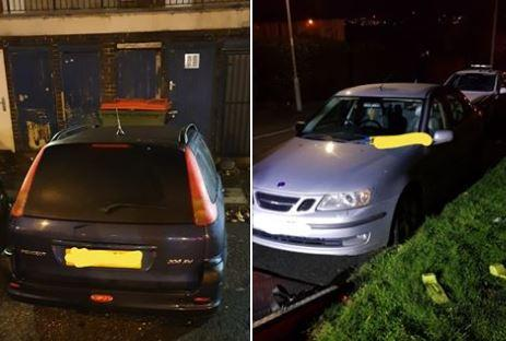 The cars. Pictures: West Yorkshire Police