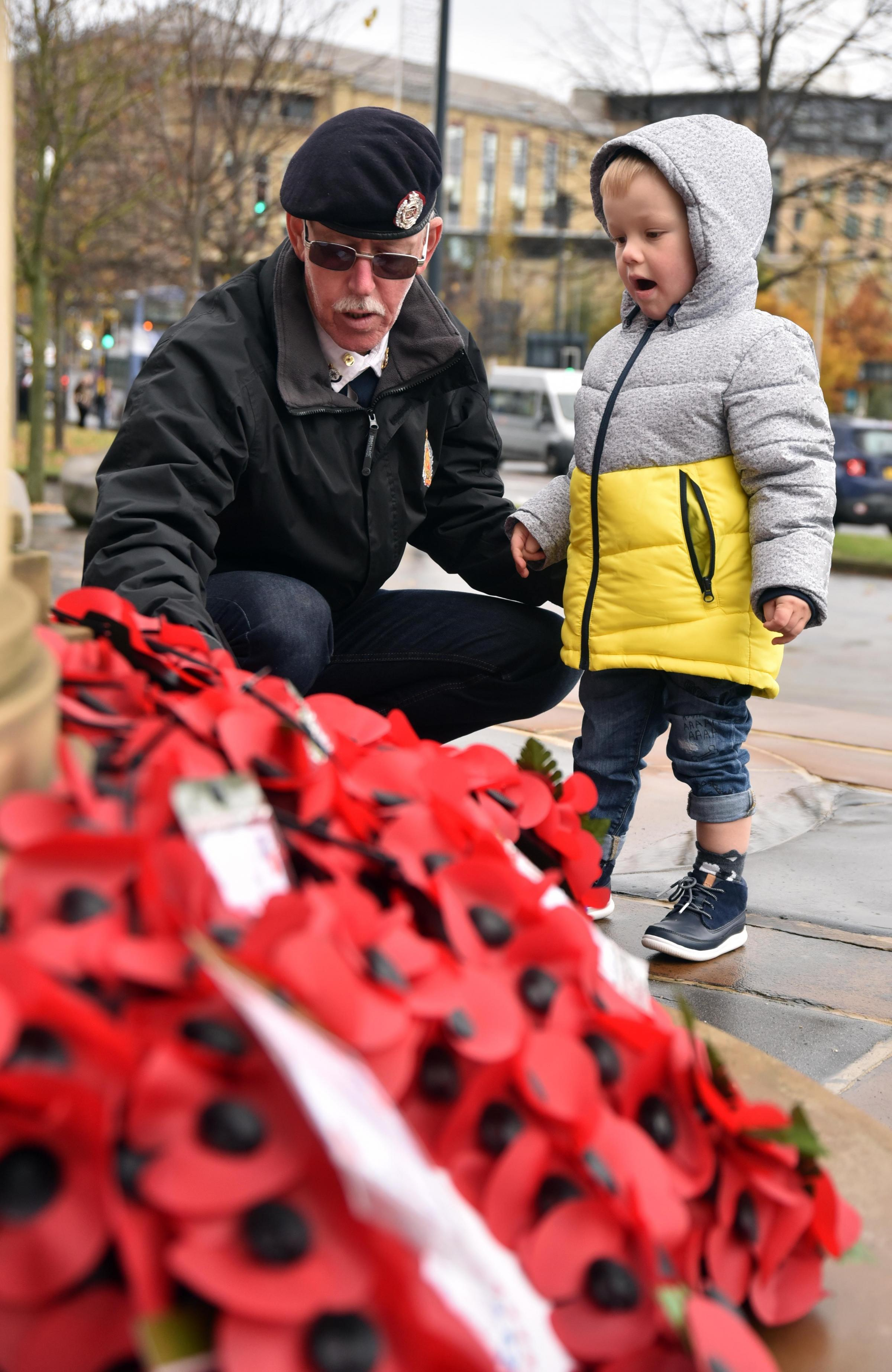 Bradford falls silent as Armistice Day service is held