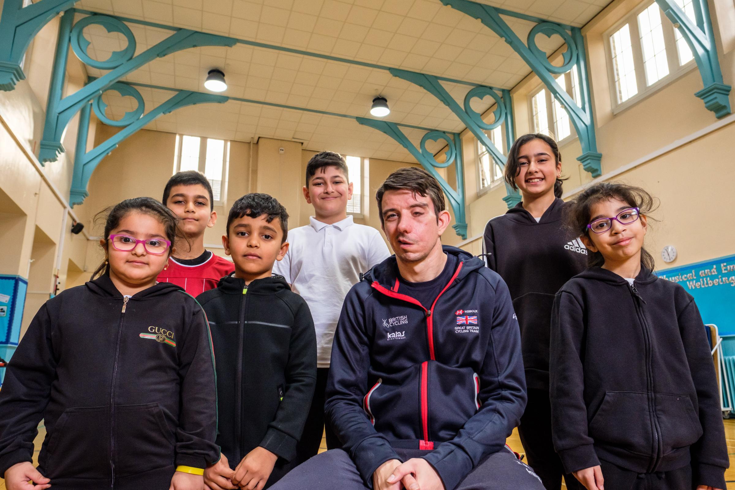 Paralympian Craig McCann inspires Frizinghall Primary School pupils