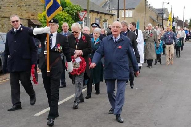 The Remembrance parade at Bramhope. Photo by Tariq Qadeer