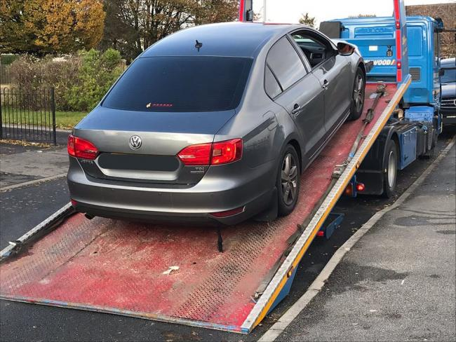 The seized car. Picture: West Yorkshire Police