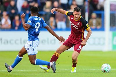 Ryan McGowan in action for City at Macclesfield last season