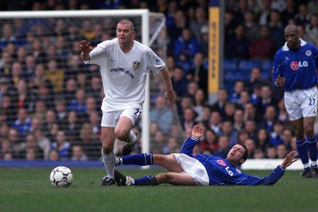 Dominic Matteo (left) in action for Leeds United against Leicester City in 2002. Picture: PA Photos
