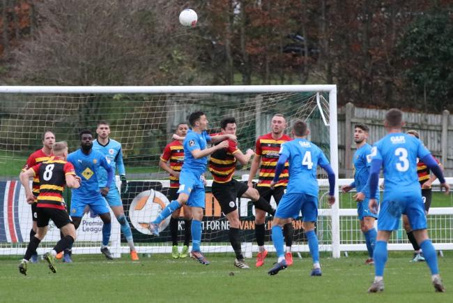 Action from Avenue's game against Leamington earlier in the season at Horsfall Picture: John Rhodes