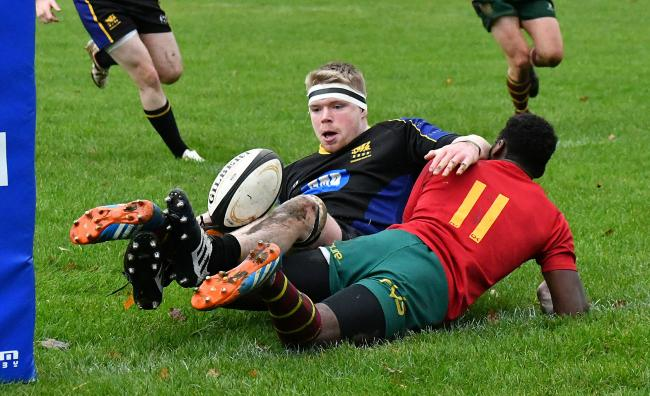 Salem's Rhys Green grabbed two tries in a gruelling clash at Pontefract in Yorkshire One Picture: Richard Leach