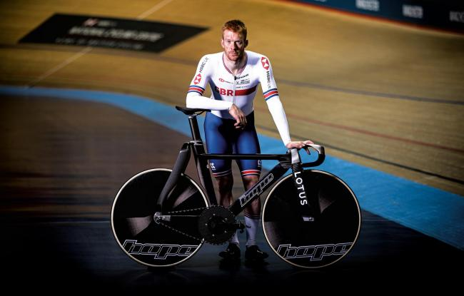Ed Clancy with the Hope Technology bike