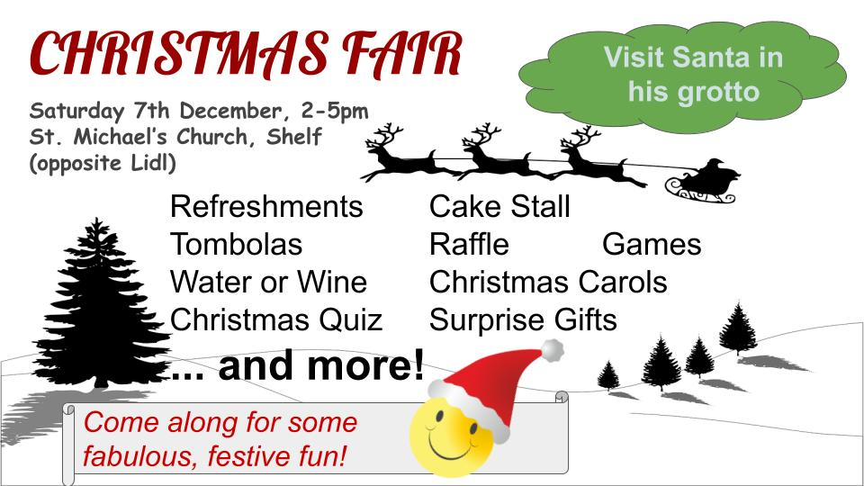 St. Michael's Church, Shelf - Christmas Fair