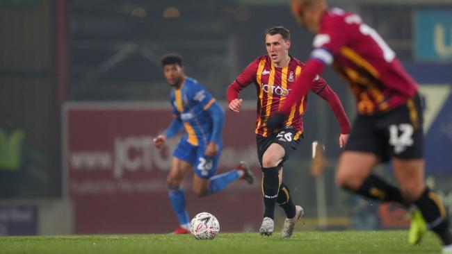 Callum Cooke's loan deal with Bradford City is currently due to run out at the end of the season Picture: Tom Gadd