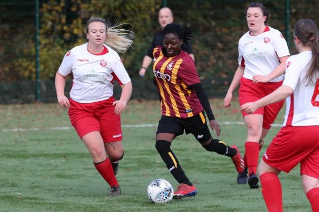 Bradford City Women breezed past a sorry Ripon 6-0   Picture: Alex Daniel