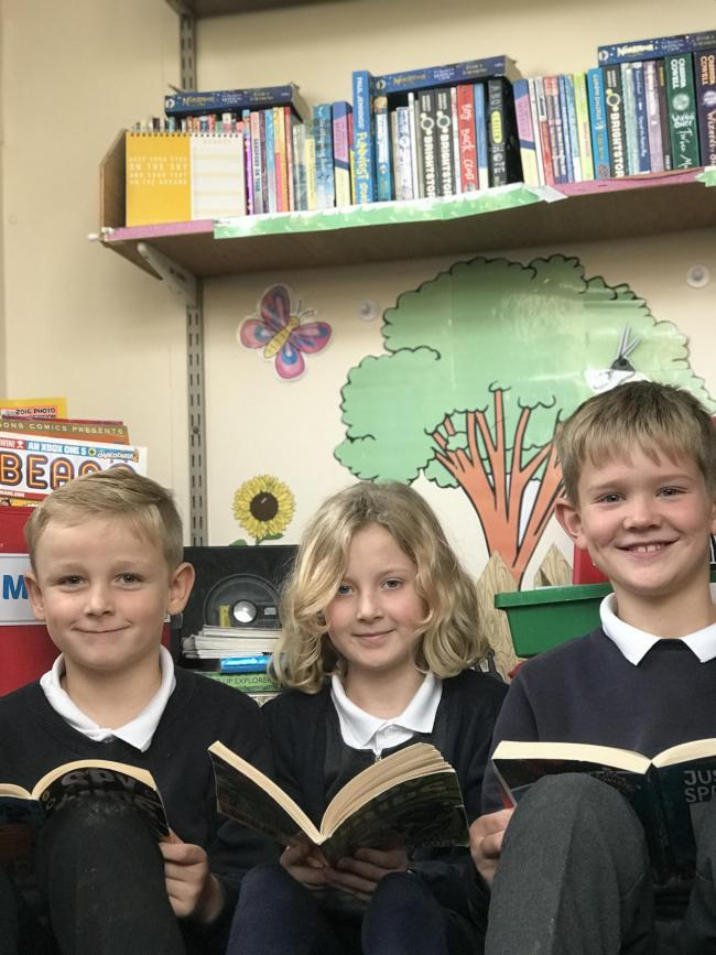 Glusburn Primary School children are hoping for a new library