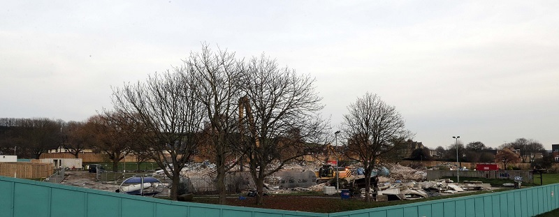 Former Spenborough Pool and Leisure Centre is demolished