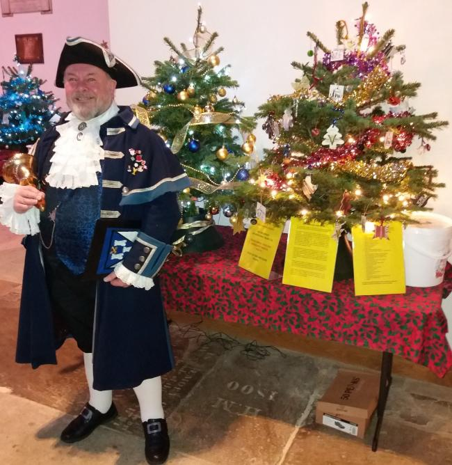 Bellman Terry Ford at last year's Otley Christmas Tree Festival