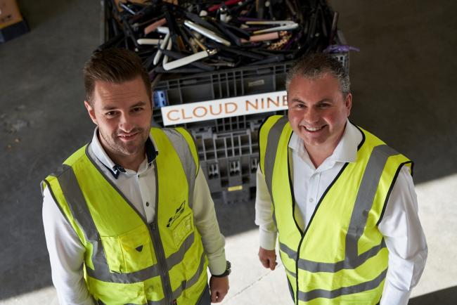 LSS straightens up e-waste recycling problem with Cloud Nine – Mark Russell of LSS (left) and Martin Rae of Cloud Nine (right)