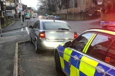 This car stopped by police in Bradford had no insurance or excise licence