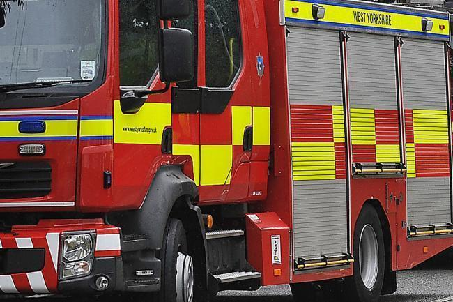 A couple had to be rescued from a blazing flat