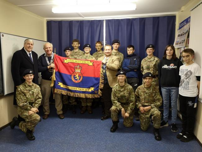 Otley Army Cadets receiving their new Standard