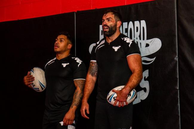 Greg Johnson and Anthony England joined Bulls in the off-season from Salford and Wakefield