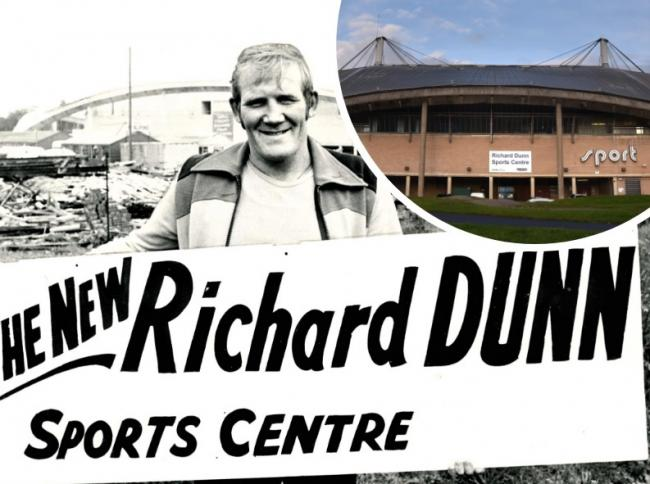 Richard Dunn at the sports centre in May 1976, before going back to his job as a scaffolder