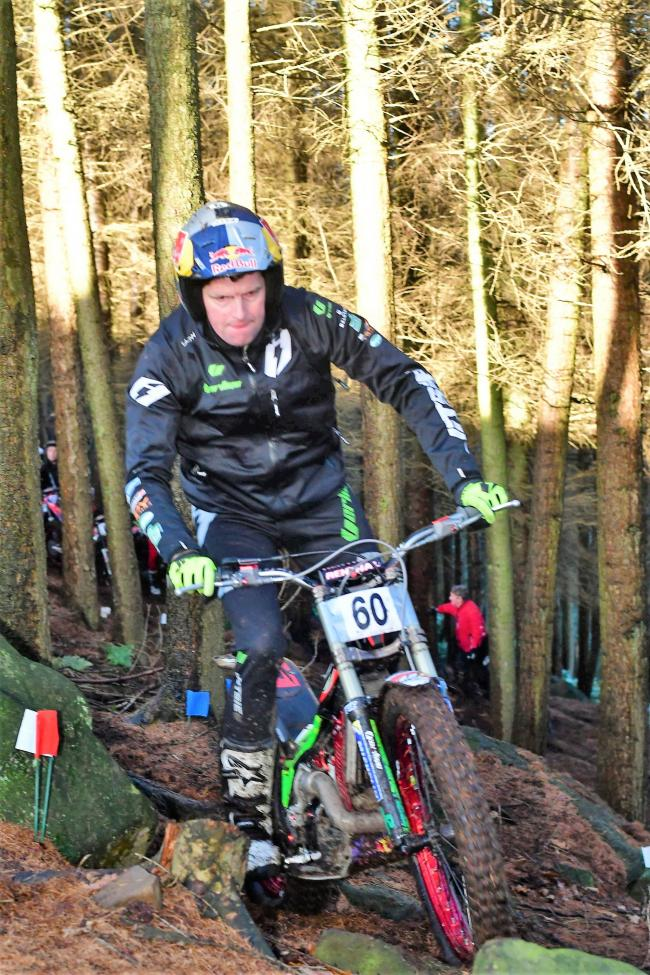 Dougie Lampkin won the Experts race at Dob Park