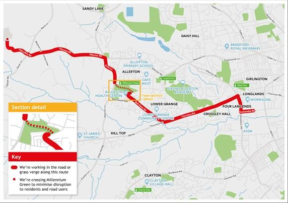 Bradford Telegraph and Argus: The route for planned works