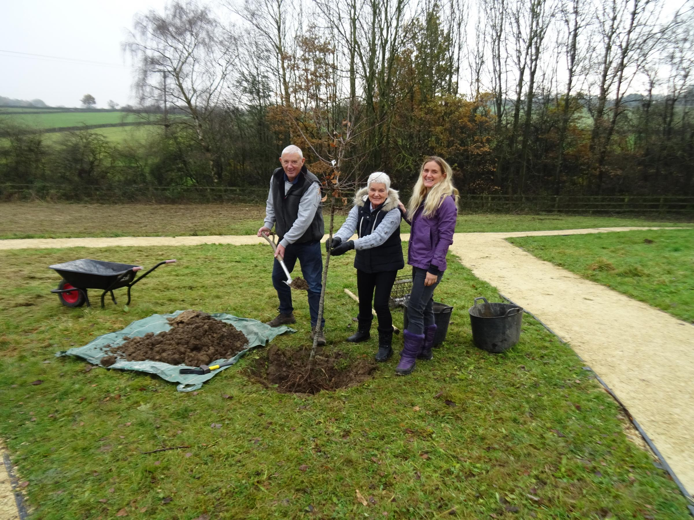 About 80 people turn out to plant trees at Jo Cox Community Wood