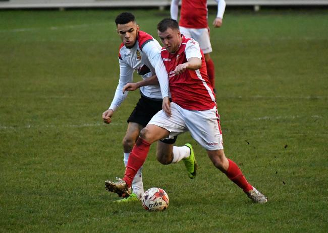 Thackley's James Rothel (right) scored an 85th minute winner last night Picture: Richard Leach
