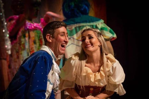 Christopher Maloney as Prince Charming and Vikki Earle as Cinderella - Angela Kershaw Photography