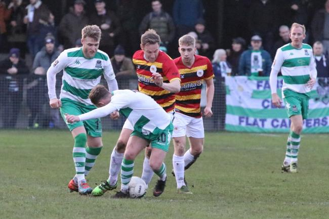 Avenue in action during a bruising 5-0 defeat to Farsley Celtic in December Picture: John Rhodes