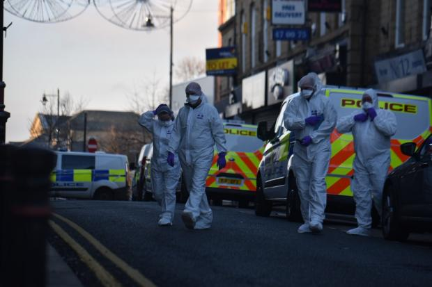 Bradford Telegraph and Argus: The scene in Batley