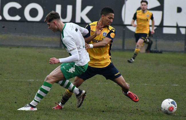 Guiseley's Kaine Felix has been giving defenders and goalkeepers nightmares in recent weeks Picture: Richard Leach