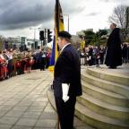 The annual Act of Remembrance at the cenotaph in Bradford