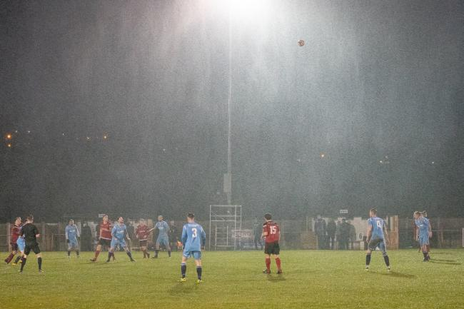 The Silsden pitch has taken a battering over the last few weeks, and more bad weather has seen their League Cup game with Nostell Miners Welfare postponed Picture: David Brett