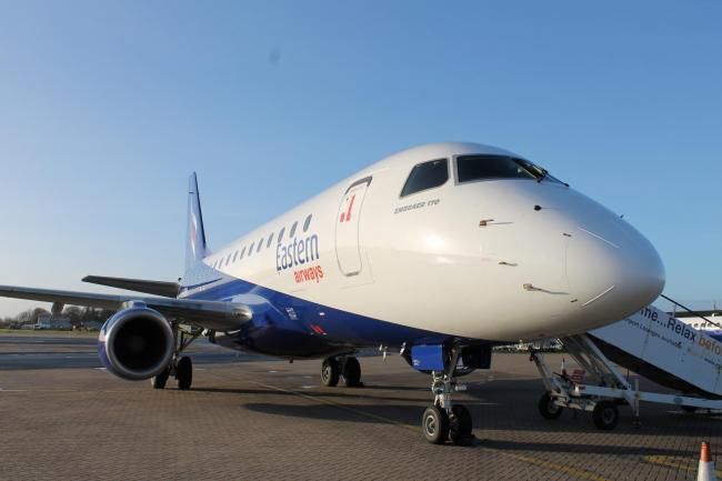 An Embraer 170 which is to be operated by Eastern Airways