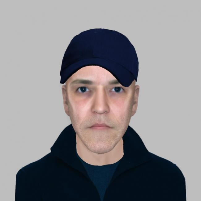 Police would like to trace this man in relation to a jewellery burglary in Mirfield.