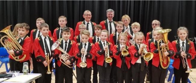 Foxhill Primary School's brass band.